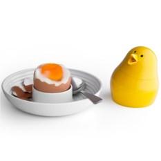 Бело-желтый набор для завтрака и специй Jib-Jib