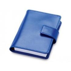 Синий блокнот с набором стикеров и шариковой ручкой Carlson