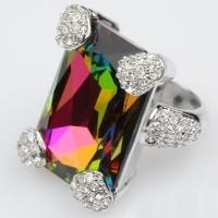 Кольцо с кристаллами Сваровски Valeriya