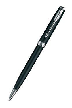 Шариковая ручка Parker Sonnet K529, черная/латунь