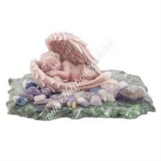 Статуэтка на основании из змеевика Ангелочек спящий