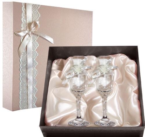 Набор свадебных бокалов №47 в подарочной коробке