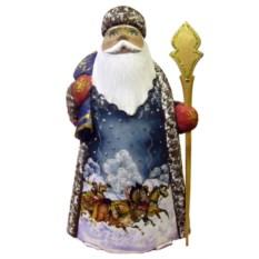 Игрушка Дед Мороз из дерева, высота 21 см