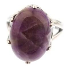 Кольцо из мельхиора с аметистом Горная лаванда