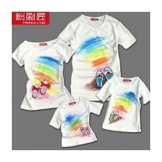 Семейные футболки В ожидании лета, для родителей и дочки