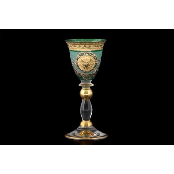 Набор рюмок для водки Богемия, зеленые, 6 предметов