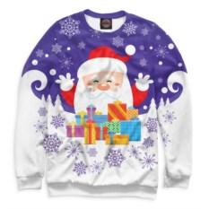 Женский свитшот Дед Мороз с подарками
