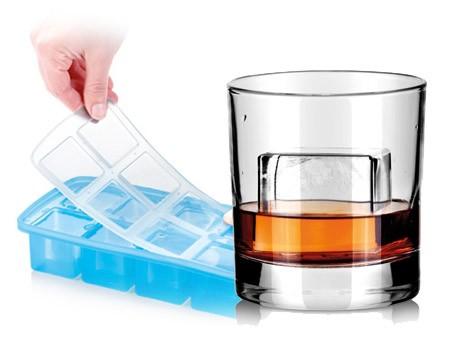 Силиконовая форма для льда с крышкой «Большие кубики XXL»