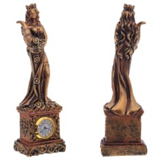 Декоративная статуэтка с часами Фортуна
