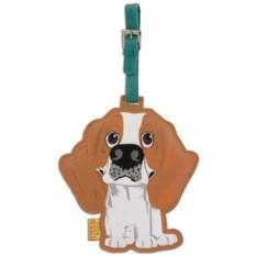 Кожаный ярлык на сумку Beagle