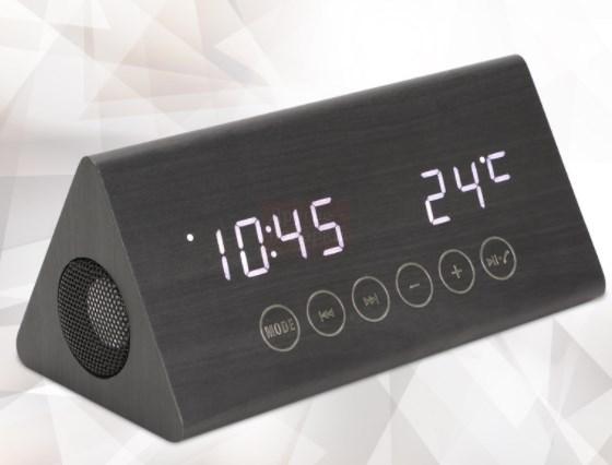 Часы-будильник Треугольник с колонкой