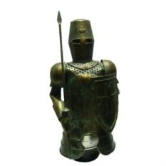 Декор бутылки из металла Рыцарь