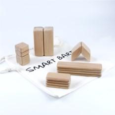 Деревянный конструктор SmartBart с магнитами (14 деталей)