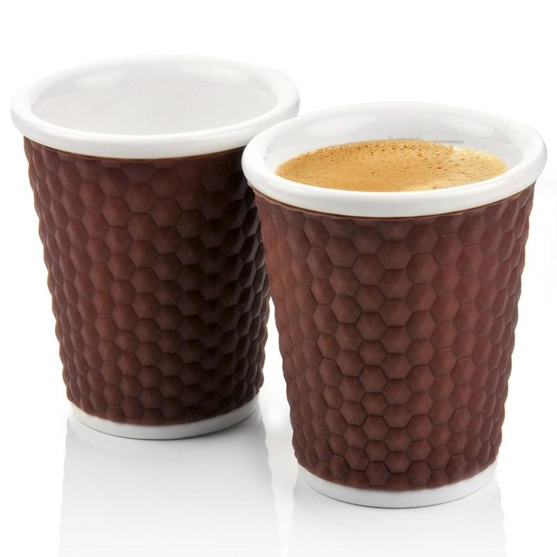 Набор чашек Honeycomb 180 мл, коричневый