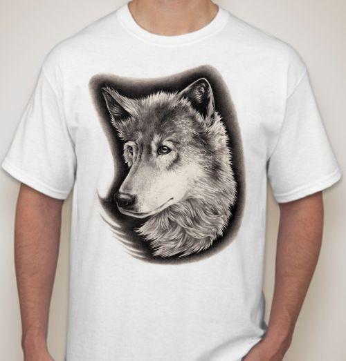 Мужская футболка Волчица