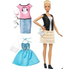 Кукла Барби Блондинка. Мода (2 комплекта одежды)