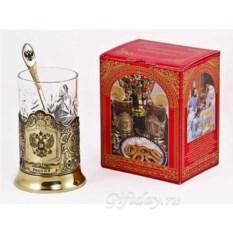 Набор для чая Россия в красной картонной коробке