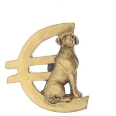 Магнит Собачка с валютой