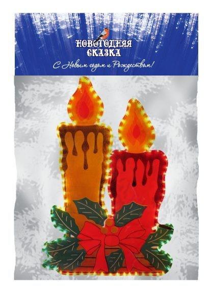 Панно-гирлянда Свечи новогодние, 85 см