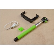 Монопод для селфи с кнопкой, bluetooth (зеленый)