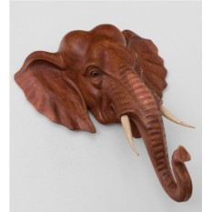 Панно из дерева суар Индийский слон (40 см)