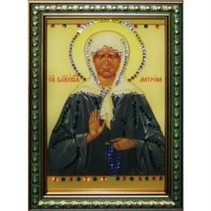 Малая икона с кристаллами Swarovski Матрона Московская