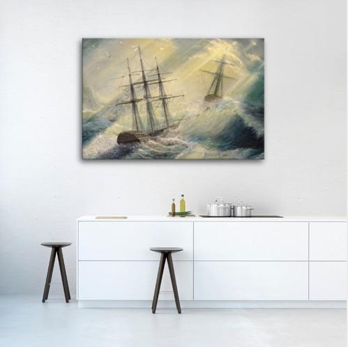 Картина Айвазовский. Корабли