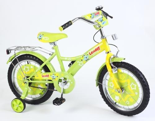 Велосипед Leader Kids G16BD130, цвет: Желтый