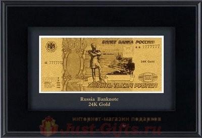 Декоративное панно Купюра России 5000 рублей Golden Orchid