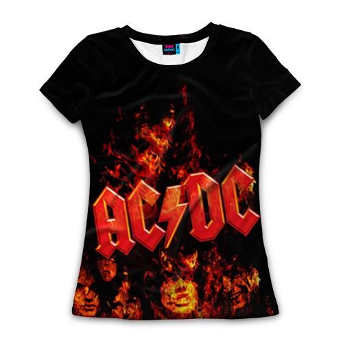 Женская футболка 3D C/DC