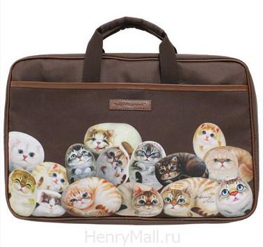 Стильный женский портфель с кисками «Кошки Генри»