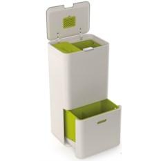 Белый контейнер для сортировки мусора Totem