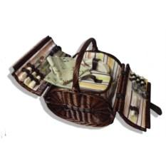 Темно-коричневая корзина для пикника