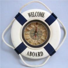 Синие настенные часы Спасательный круг