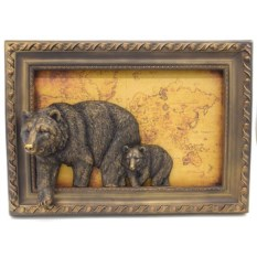 Настенное объемное панно Медведи