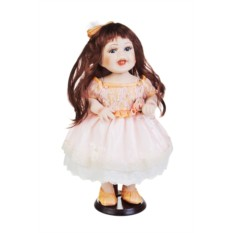 Фарфоровая кукла Смешная шатенка