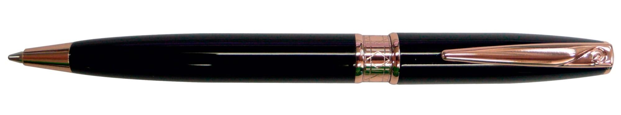 Черная с золотом шариковая ручка-мини Pierre Cardin Secret
