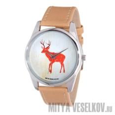 Часы Mitya Veselkov Лесной олень (цвет: бежевый)