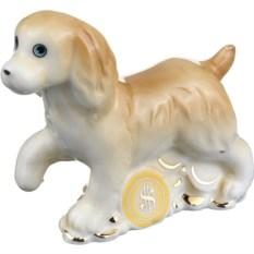 Декоративная фигурка Рыжая собачка с монетами