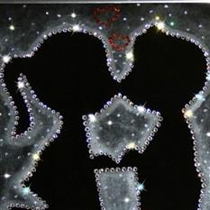 Картина из кристаллов Swarovski «Первая любовь»