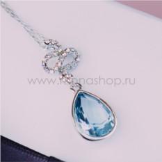 Кулон с голубым кристаллом Сваровски «Коварство»