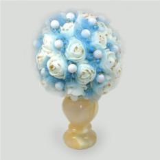 Цветы из кахолонга (молочного опала) Нежность