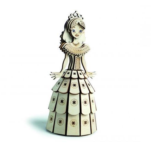 Деревянный 3D конструктор Сказочная принцесса