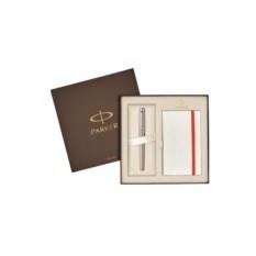 Подарочный набор Parker из перьевой ручки и записной книжки