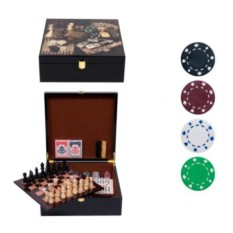 Набор игр: Нарды, шахматы. шашки, домино, карты, покер