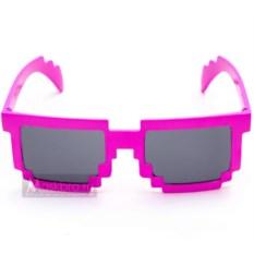 Розовые пиксельные очки
