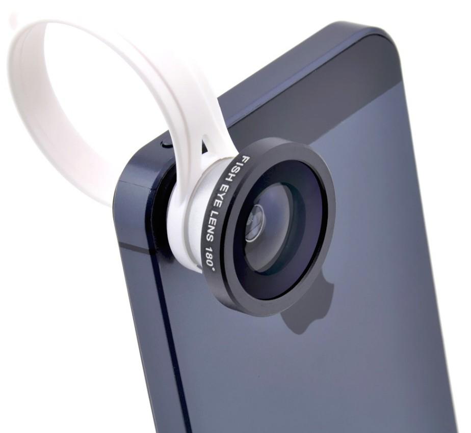 Объектив для iPhone и любого телефона Fisheye On A Clip