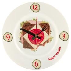Часы Тарелка Бутерброд
