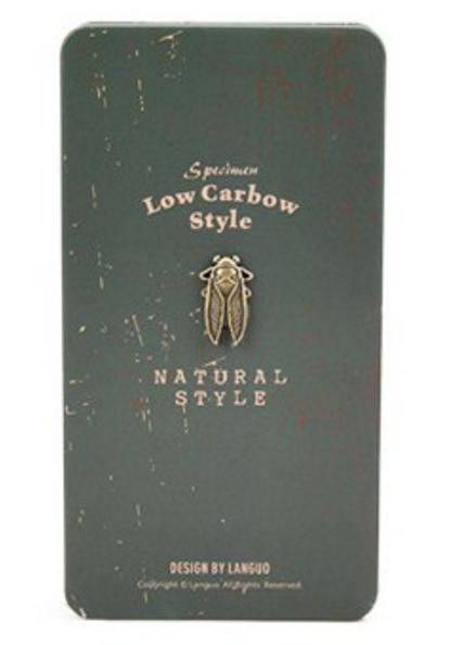 Зеленый креативбук с жестяной обложкой Low Carbow Style