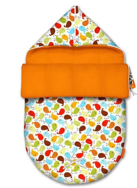 Детский конверт Birds Orange